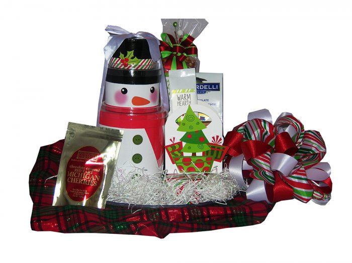 Snowman Gift Basket OKC